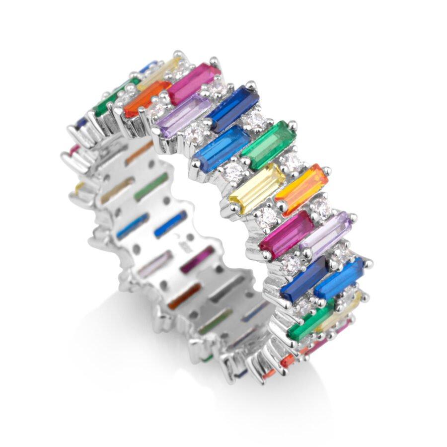 טבעת COLOUR GLAM בגטים צבעונים