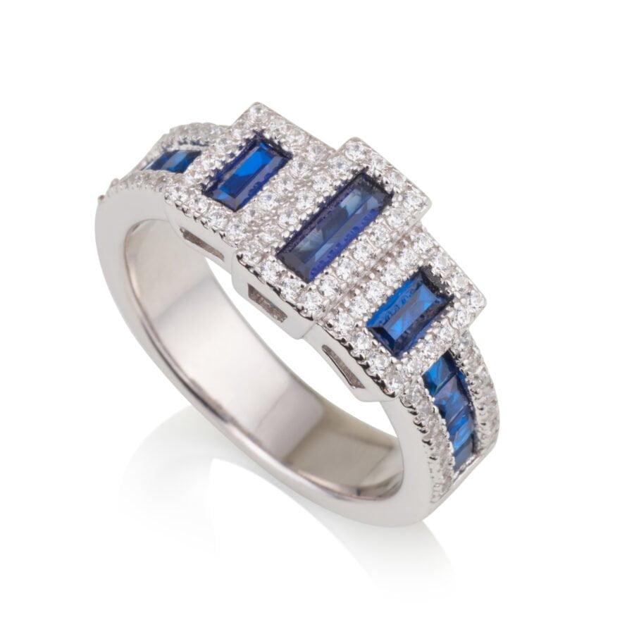 טבעת שיבוץ כחול