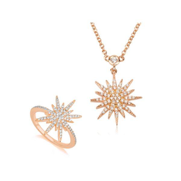 סט כוכבים- טבעת ושרשרת