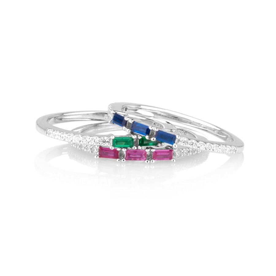 טבעת זרקונים בצבעים