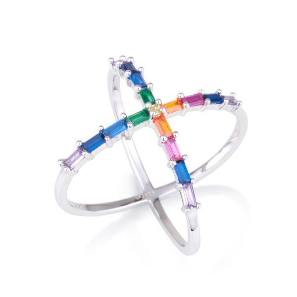 טבעת OLIVIA איקס צבעונית