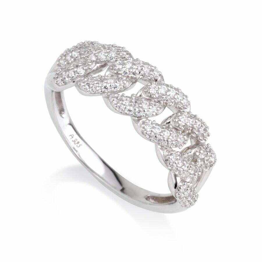 טבעת לולאות משובצת