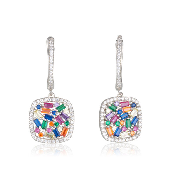 SQUARE COLOR GLAM EARRINGS